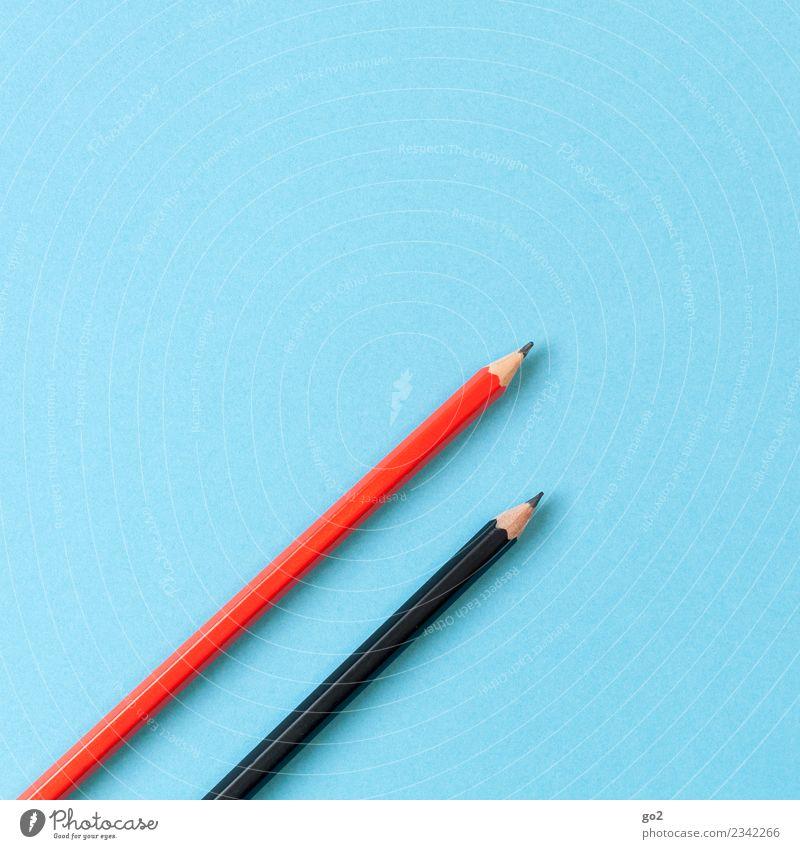 Stifte blau rot schwarz Schule Design Zufriedenheit Büro ästhetisch Ordnung Kreativität Idee Studium einfach Team schreiben zeichnen