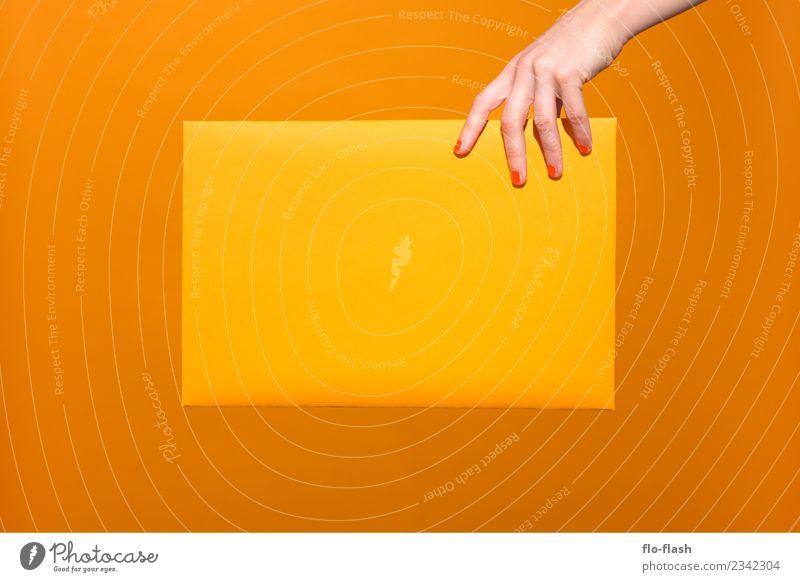 FOUR FINGER + Daumen schön gelb Business Kunst Schule Feste & Feiern orange Design Geburtstag Studium Ostern Wellness Bildung Medien Werbebranche Handwerk