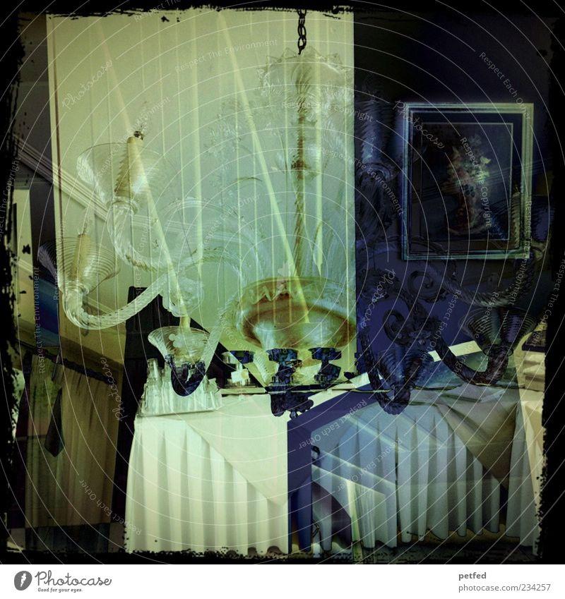 Edel, edel ... blau schön Lampe Wohnung Raum gold elegant Dekoration & Verzierung ästhetisch Tisch Romantik Bild Reichtum durcheinander Doppelbelichtung seriös