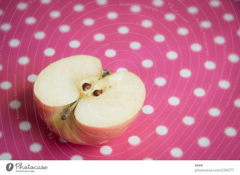 Schneewittchen schön Ernährung Frucht rosa natürlich frisch süß Apfel Gesunde Ernährung lecker reif Bioprodukte Hälfte Diät saftig Vitamin
