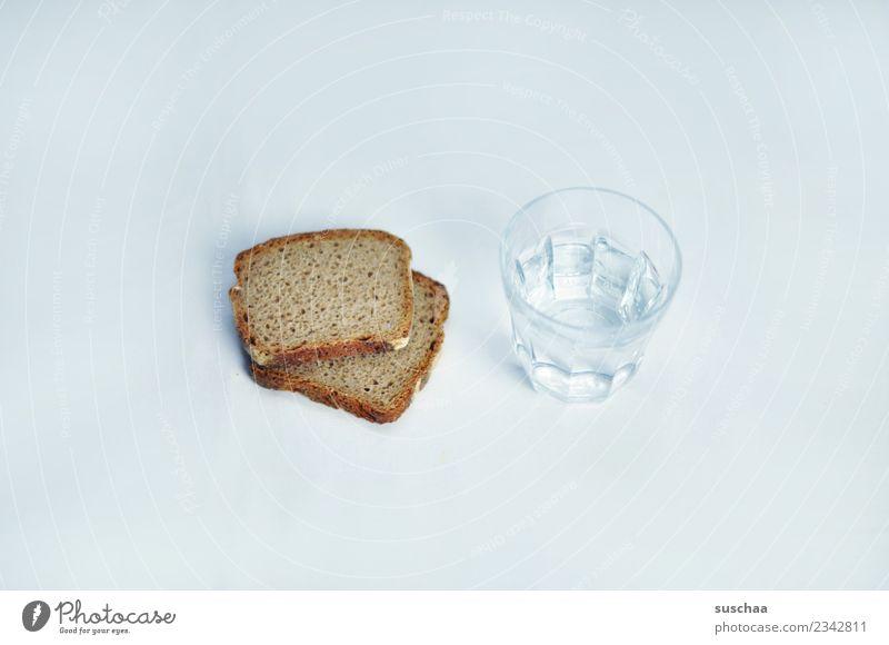 wasser und brot Brot Wasser Lebensmittel Ernährung grundbedürdnis trinken Speise Essen Armut Appetit & Hunger Überleben Symbole & Metaphern