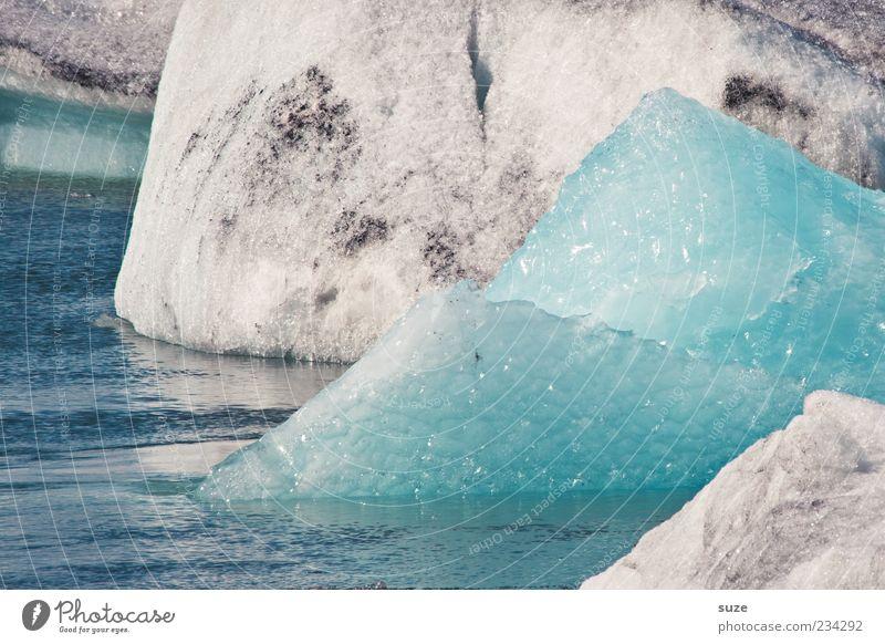 Eisspitz Umwelt Natur Urelemente Wasser Klima Frost eckig kalt natürlich Spitze Island Gletschereis hell-blau Gletscherschmelze Farbfoto Gedeckte Farben