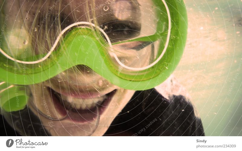 Abtauchen und Grinsen exotisch Freizeit & Hobby Ferien & Urlaub & Reisen Sommer Sonne Meer Frau Erwachsene Kopf 1 Mensch 18-30 Jahre Jugendliche blond