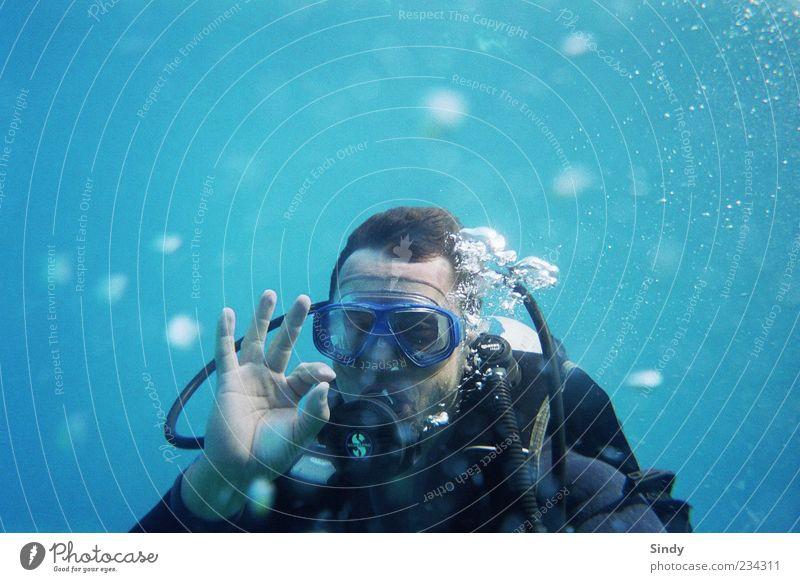 o°°°o0°oo0°°00oO° 2 Mensch Mann blau Wasser Ferien & Urlaub & Reisen Sonne Sommer Meer Freude Erwachsene Ferne Freiheit Bewegung Freizeit & Hobby Schwimmen & Baden maskulin