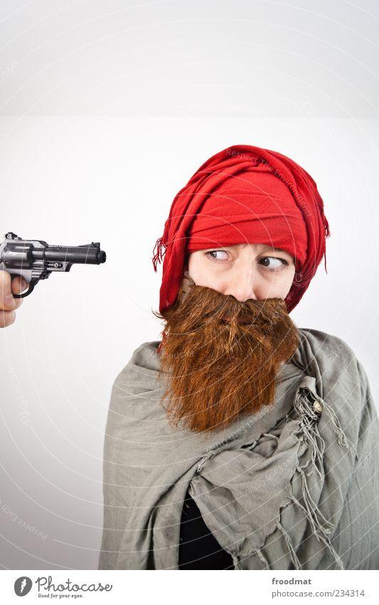 Echt jetz? Feste & Feiern Karneval Mensch maskulin Frau Erwachsene Mann Bart 1 Kopftuch Vollbart Aggression lustig rebellisch trashig Attentäter Terrorist