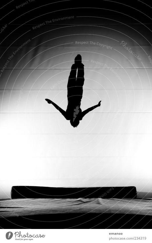 silhouette 7 Lifestyle Stil Freude Leben Freizeit & Hobby Sport Fitness Sport-Training Sportler Mensch 1 Bewegung fallen fliegen springen ästhetisch sportlich