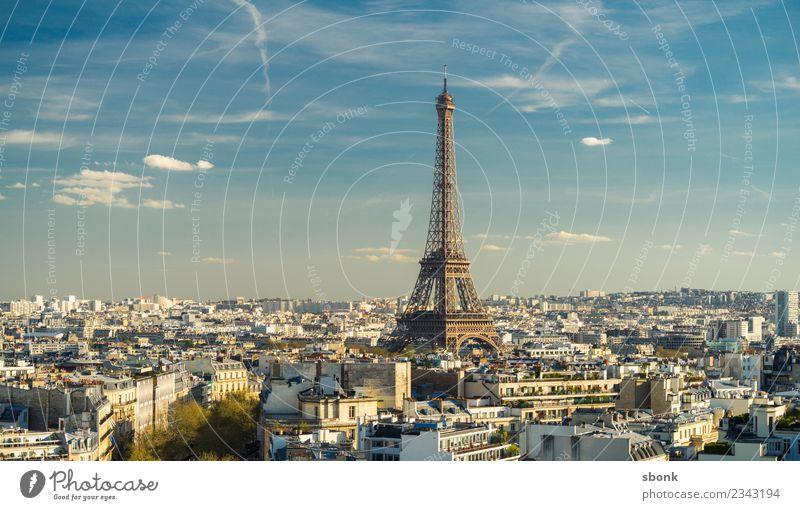 Paris Stadtpanorama Hauptstadt Sehenswürdigkeit Wahrzeichen Denkmal Tour d'Eiffel Ferien & Urlaub & Reisen Farbfoto