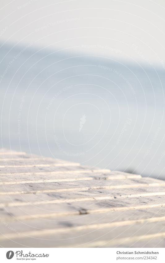 Wassersteg Himmel Meer Holz Wege & Pfade Horizont Steg Textfreiraum Unschärfe