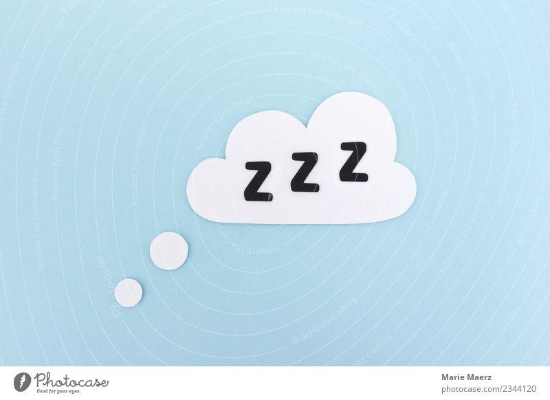 Schlafen | Wolke mit Z Z Z Wolken Erholung schlafen einfach Gesundheit blau weiß Müdigkeit Erschöpfung Energie träumen Mittagsschlaf Pause Papierschnitt