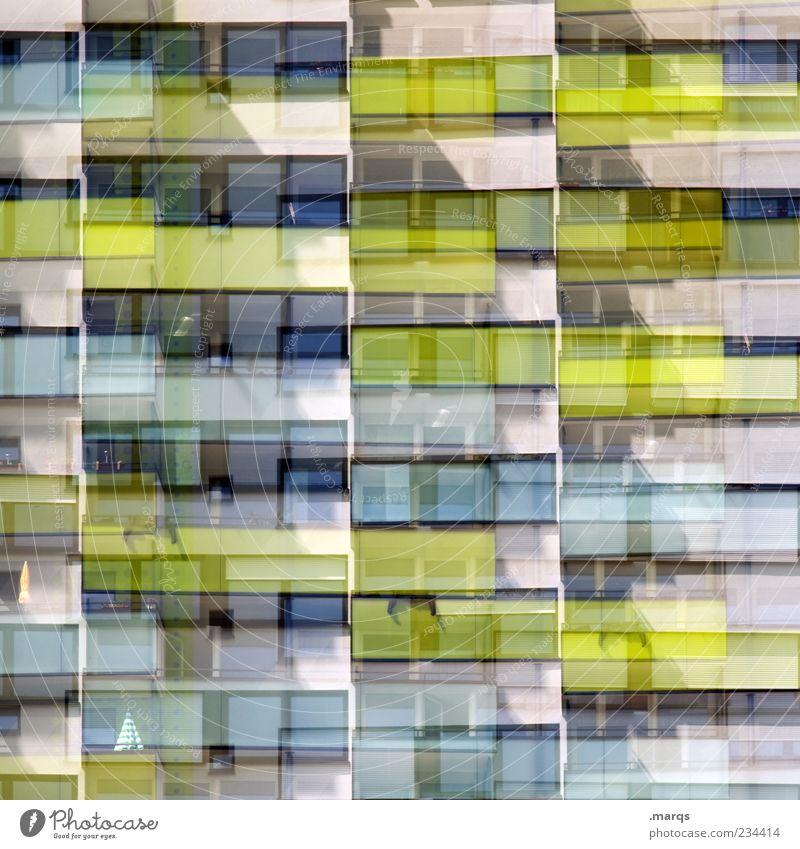 B-B-Balkone Lifestyle Stil Design Mehrfamilienhaus Fassade Fenster Linie Streifen außergewöhnlich einzigartig modern verrückt chaotisch Doppelbelichtung