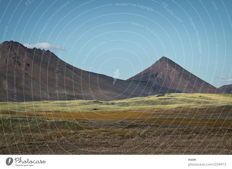 Berge ohne Meer Ferne Berge u. Gebirge Umwelt Natur Landschaft Himmel Klima Schönes Wetter Wiese Hügel Felsen Gipfel außergewöhnlich gigantisch groß einzigartig