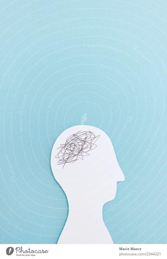 Chaos im Kopf lernen Labor 1 Mensch Denken drehen blau Erschöpfung Angst Stress Verzweiflung verstört chaotisch Konzentration Kreativität Konflikt & Streit