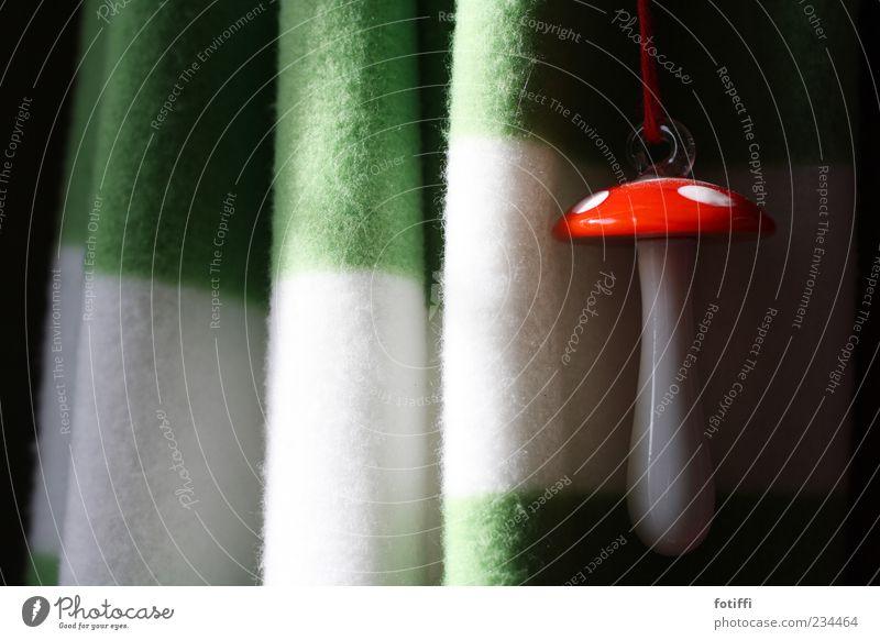 """...und löse """"Pilz""""! grün schön weiß rot Einsamkeit Glück glänzend Zufriedenheit frisch Dekoration & Verzierung Glas Fröhlichkeit Lebensfreude rund Schnur Kitsch"""