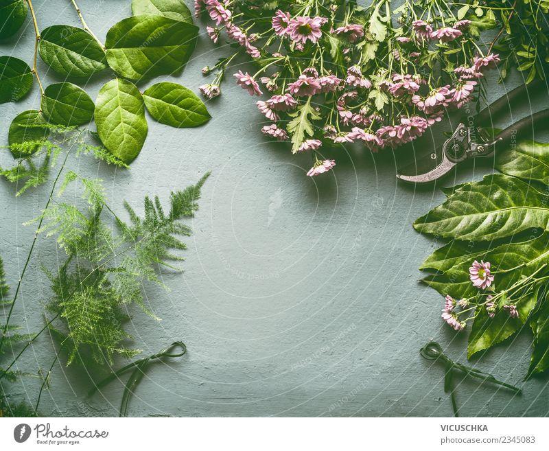 Verschiedene Blumen und Blätter für Blumenstrauß Stil Design Freizeit & Hobby Schreibtisch Blatt Blüte Dekoration & Verzierung grün rosa Ladengeschäft