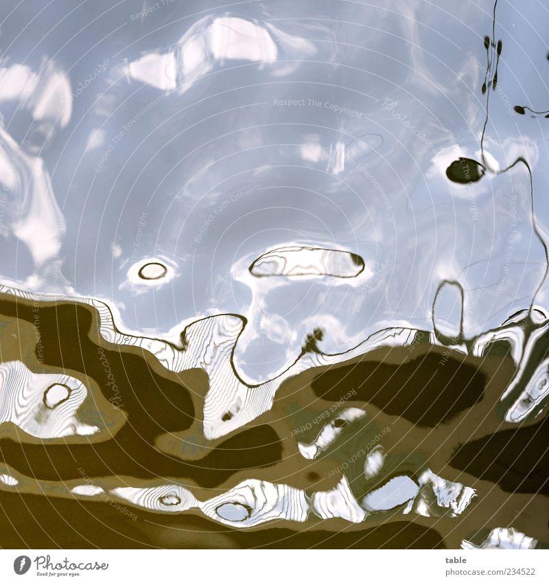 surrealism Himmel blau Wasser weiß grün kalt Bewegung braun Wellen nass ästhetisch Wandel & Veränderung Urelemente Flüssigkeit skurril bizarr