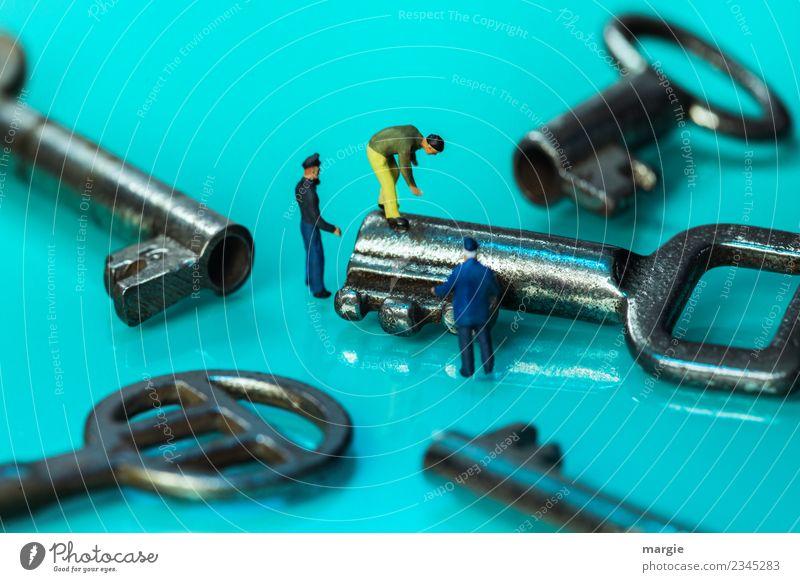 Miniwelten - Schlüssel - Service Arbeit & Erwerbstätigkeit Beruf Handwerker Arbeitsplatz Baustelle Dienstleistungsgewerbe Werkzeug Technik & Technologie