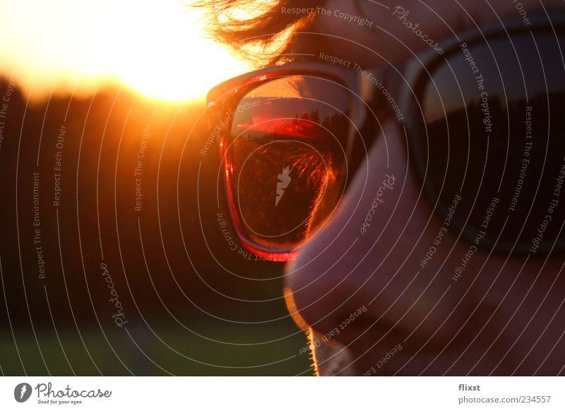 Cool Summer maskulin Junger Mann Jugendliche Haare & Frisuren Auge Nase 1 Mensch 18-30 Jahre Erwachsene Frühlingsgefühle Coolness Optimismus Sonnenbrille