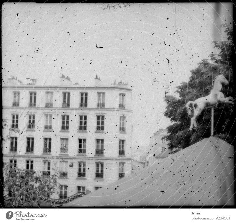 Montmartre White Beauty I alt Architektur außergewöhnlich Fassade Paris analog Nostalgie Sehenswürdigkeit Anschnitt Hauptstadt Bekanntheit Karussell Altbau