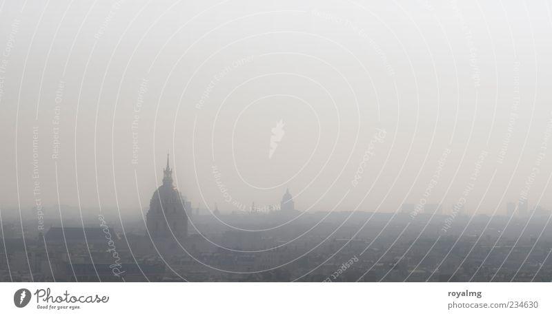Paris Stadt Haus Kraft Nebel Kirche Unendlichkeit Skyline Denkmal Lebensfreude Frankreich Dom Sehenswürdigkeit Dunst Altstadt schlechtes Wetter