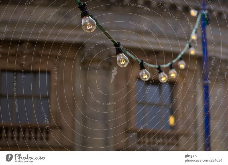 Berliner Lichter Haus Fenster Wand Mauer Gebäude Autofenster Beleuchtung Fassade glänzend leuchten Dekoration & Verzierung Kabel Bauwerk erleuchten deutlich