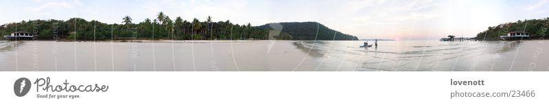 Koh kood Laguna Himmel Thailand Asien Panorama (Aussicht) sea vacation boat aim sky blue Sand groß Panorama (Bildformat)