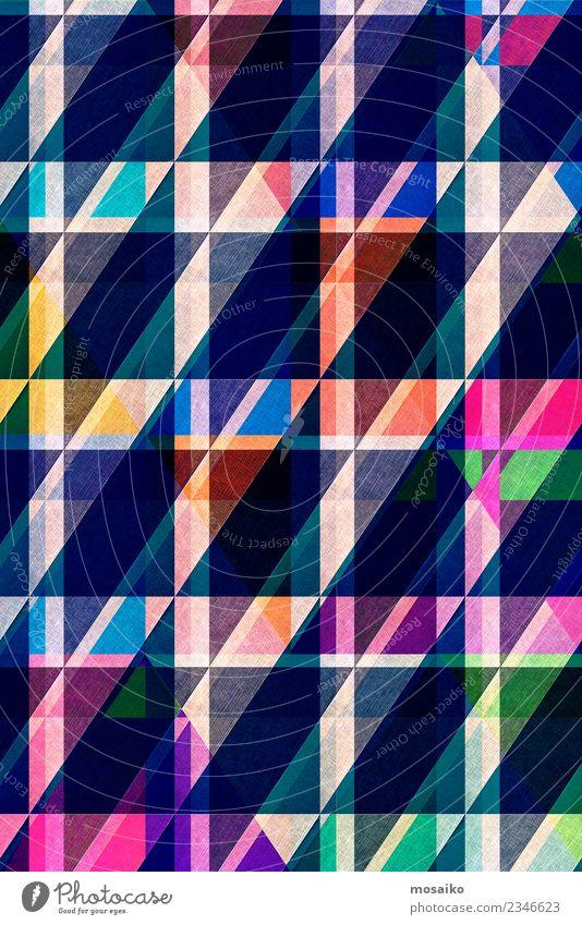 Grafik Design - Diagonale Streifen blau Farbe Architektur Lifestyle Stil Mode Linie retro elegant Papier Grafik u. Illustration Internet graphisch altehrwürdig