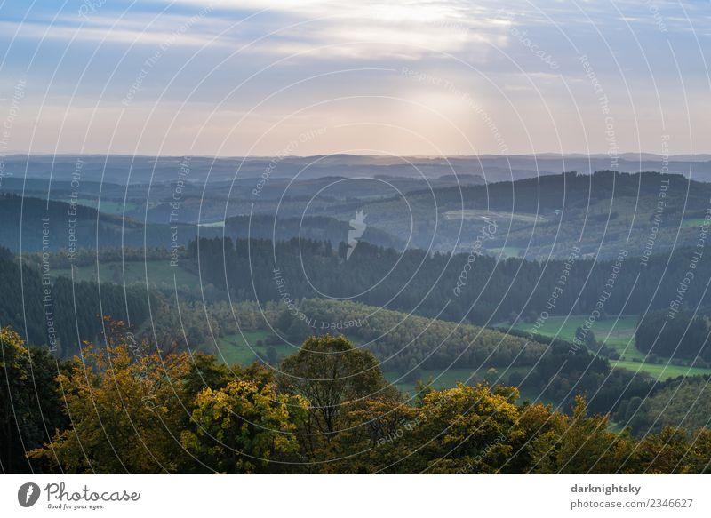 Panorama Natur Siegerland und Sauerland Ginsberger Heide. Glück Ferien & Urlaub & Reisen Berge u. Gebirge wandern Umwelt Landschaft Luft Himmel Wolken Sommer