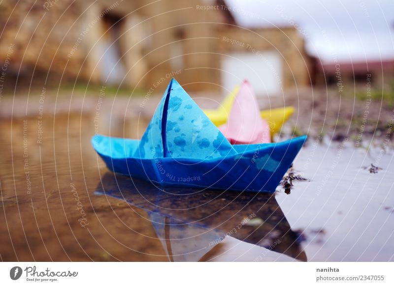 Natur Ferien & Urlaub & Reisen Wasser Leben kalt lustig klein Spielen Freizeit & Hobby Regen retro Wetter Erde Kreativität authentisch Wassertropfen