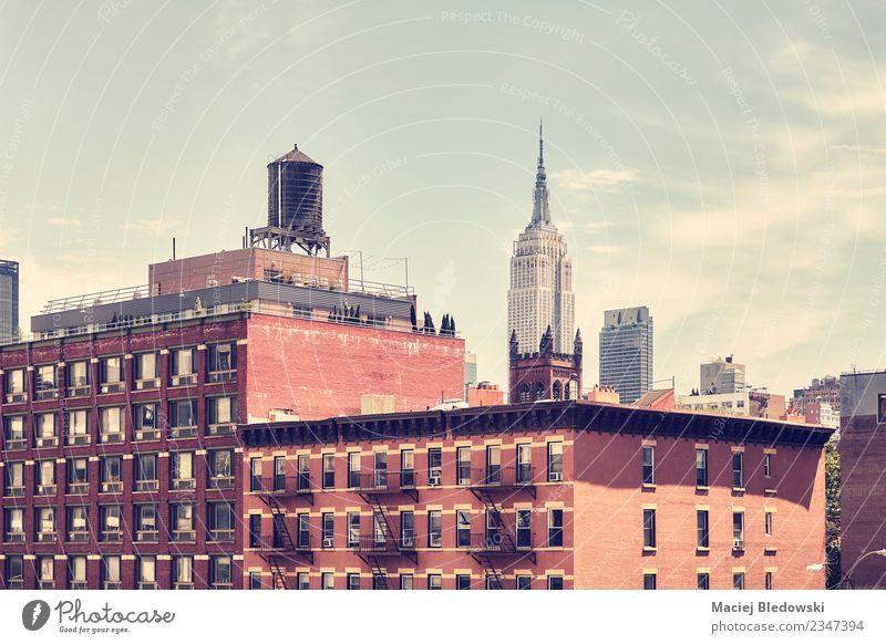 Alte Manhattan-Gebäude, New York City. Ferien & Urlaub & Reisen Sightseeing Städtereise Wohnung Haus Himmel Stadt Stadtzentrum Skyline Hochhaus Architektur