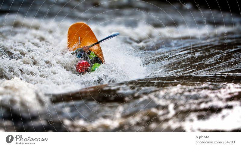 river playing Freizeit & Hobby Wassersport Sportler Kajak Fluss Paddel Stromschnellen Wellen Strömung Mensch maskulin Erwachsene 1 Natur Paddeln Farbfoto