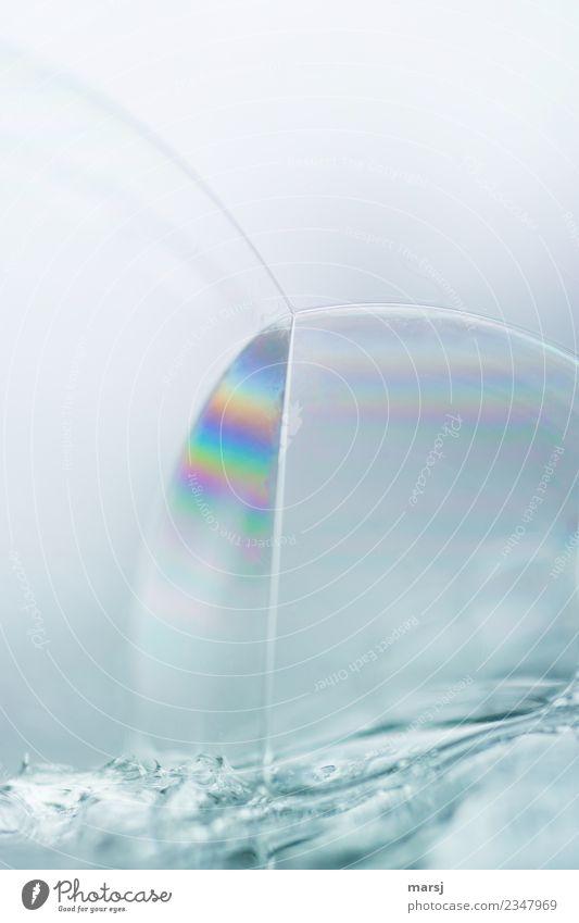 Schnittmenge im Regenbogenlook Farbe Leben natürlich außergewöhnlich elegant einzigartig entdecken harmonisch Meditation Surrealismus skurril bizarr Seifenblase