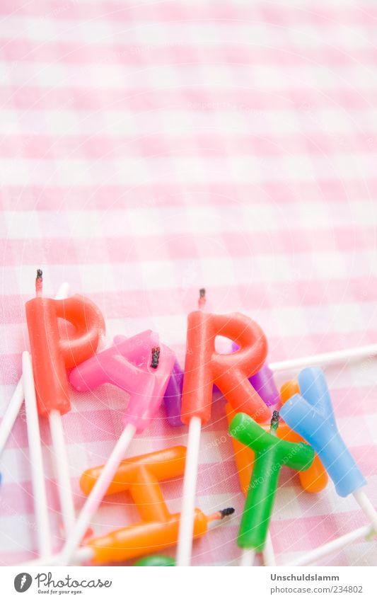 FEST und HART Lifestyle Freude Dekoration & Verzierung Party Feste & Feiern Geburtstag Kindergeburtstag Kerze Kitsch Krimskrams Schriftzeichen Fröhlichkeit blau