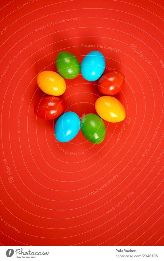#S# Eierring Lebensmittel Freude Ostern gelb blau grün rot Kreis mehrfarbig verstecken Suche Ritual Feste & Feiern Maler Kindheit Dekoration & Verzierung färben