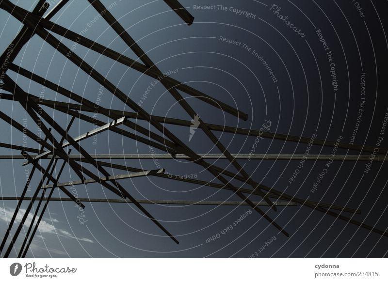 Unentschlossenheit Lifestyle Stil Design Kunst Skulptur einzigartig Idee innovativ Kreativität modern Netzwerk ruhig Surrealismus chaotisch Linie Metallstange