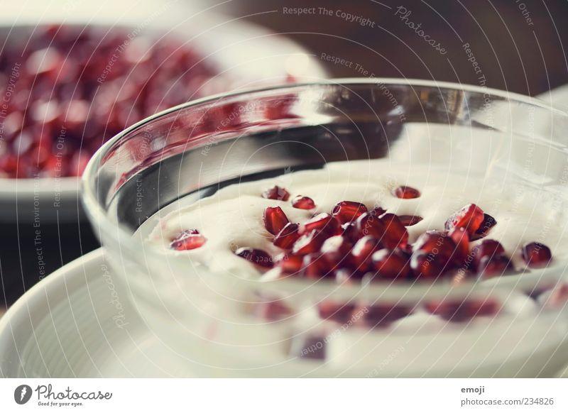fruity rot Ernährung Lebensmittel Glas Frucht Frühstück lecker Teller Bioprodukte Diät Schalen & Schüsseln Büffet Brunch Vegetarische Ernährung fruchtig Joghurt
