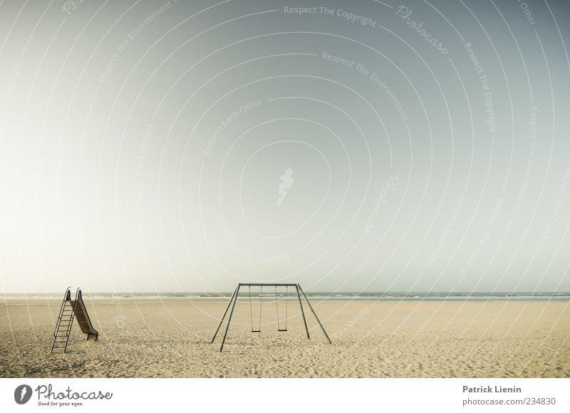 Spiekeroog   Spielplatz am Strand Pflanze Meer Ferne Umwelt Landschaft Freiheit Sand Küste Luft Wetter Wellen Insel Urelemente Schönes Wetter Sehnsucht