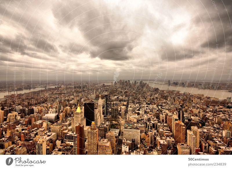 New York Manhattan Downtown Ferien & Urlaub & Reisen Stadt Wolken Haus Ferne Gefühle Gebäude Erde Horizont Zufriedenheit Hochhaus Tourismus Ausflug Aussicht USA