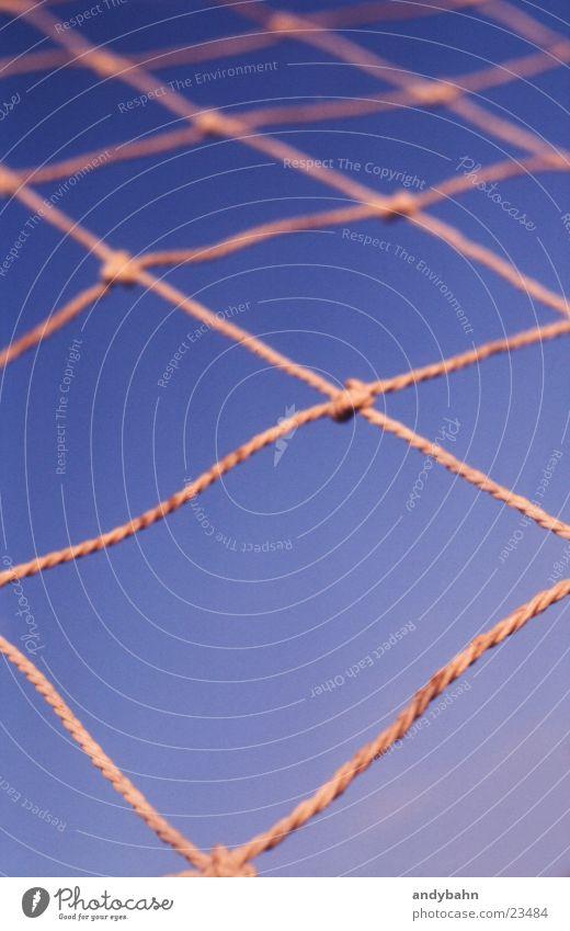 toooor Himmel Netz Netzwerk Farbfoto Unschärfe Nahaufnahme netzartig Vernetzung Geometrie Knotenpunkt Vor hellem Hintergrund