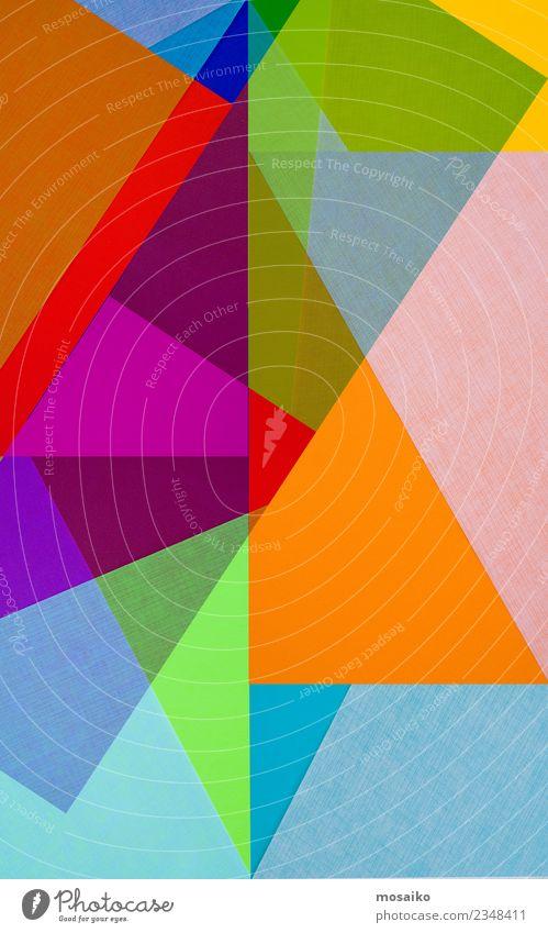 Bunte Geometrische Formen Freude Kunst Design Freizeit & Hobby modern ästhetisch Kultur Geburtstag Kreativität Fröhlichkeit Lebensfreude einzigartig Papier