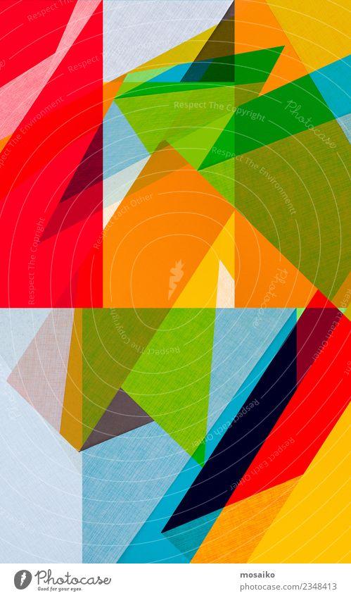 Bunte Geometrische Formen grün rot Freude Ferne Lifestyle Stil Glück Kunst Mode Party Feste & Feiern Design Zufriedenheit modern elegant ästhetisch