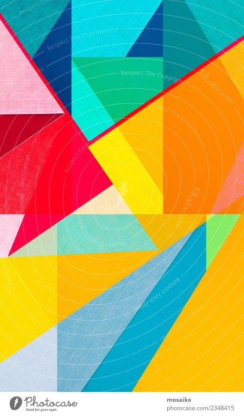 farbenfrohe geometrische Formen Lifestyle Stil Design Freude Freizeit & Hobby Basteln Entertainment Veranstaltung Feste & Feiern Bildung Kunst ästhetisch Farbe