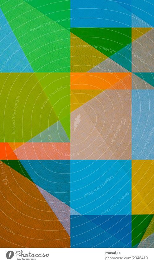 Bunte Geometrische Formen Lifestyle elegant Stil Design Freude Entertainment Party Veranstaltung Kindererziehung Bildung Kindergarten Business Kunst Kunstwerk