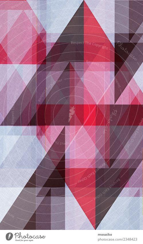 Dreiecke _ braun und rot elegant Stil Design Kunst Papier ästhetisch Zufriedenheit Farbe Symmetrie Stabilität Spitze Strukturen & Formen weiß Geometrie Spielen