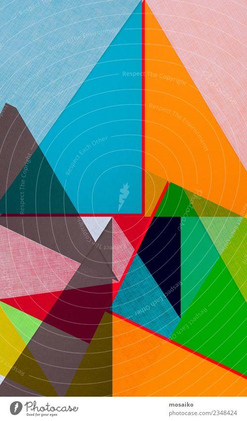 Farbenfrohe geometrische Formen Lifestyle elegant Stil Design Freude Freizeit & Hobby Entertainment Veranstaltung Feste & Feiern Kunst Kultur Papier Streifen