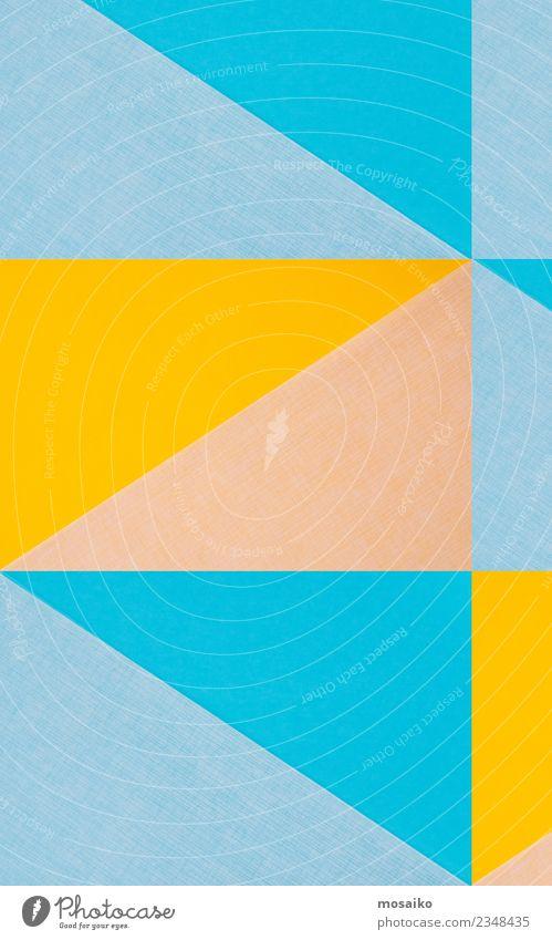 Farbenfrohe geometrische Formen Lifestyle elegant Stil Design Leben Entertainment Party Veranstaltung Kunst Papier ästhetisch Zufriedenheit Freude Inspiration