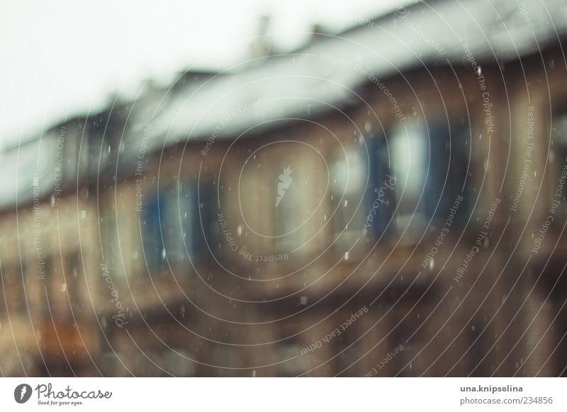 rainy day Wasser Wassertropfen Wetter schlechtes Wetter Regen Haus Gebäude Fenster nass außergewöhnlich Farbfoto Außenaufnahme Menschenleer Tag Unschärfe