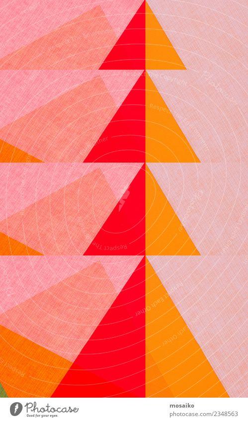 Geometrische Formen - Dreiecke - rot und orange Lifestyle elegant Stil Design Freude Kindererziehung Bildung Kunst Papier ästhetisch Zufriedenheit Stress bizarr