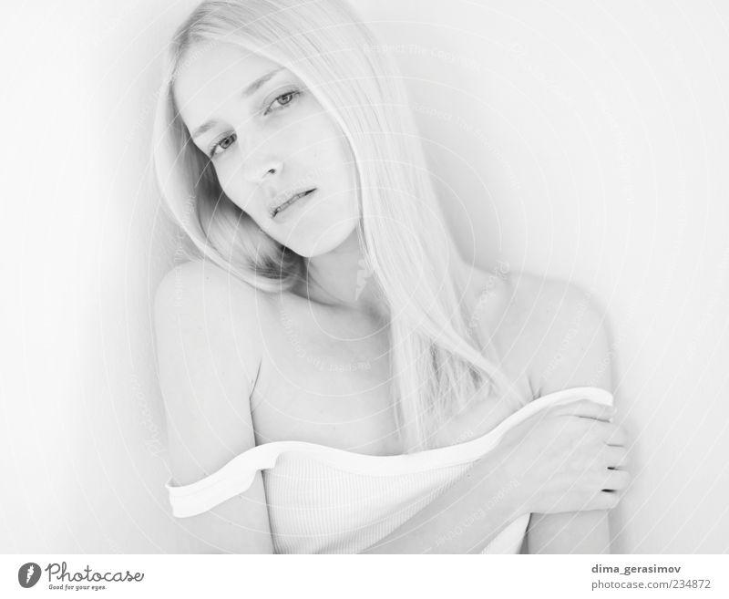 Schneewittchen schön Haare & Frisuren Haut Gesicht Gesundheit Junge Frau Jugendliche Erwachsene Kopf Auge 1 Mensch 18-30 Jahre T-Shirt Hemd blond langhaarig