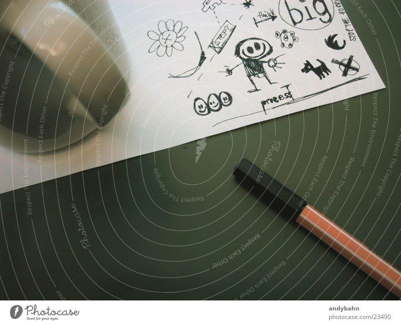 brainstorming Tasse Arbeit & Erwerbstätigkeit Dienstleistungsgewerbe Business Denken sprechen Kommunizieren zeichnen schreiben Erfolg fleißig Ausdauer Neugier