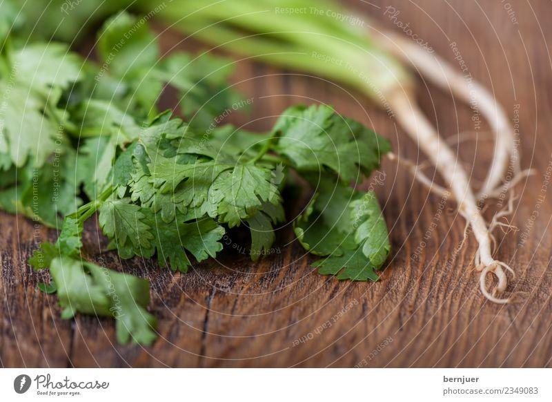 Foodfotografie Holz Lebensmittel Gemüse gut Bioprodukte Vegetarische Ernährung Billig Koriander